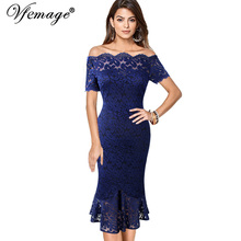 Bamskarosa Vintage Women Elegant White Lace Black Evening Party Dresses Female
