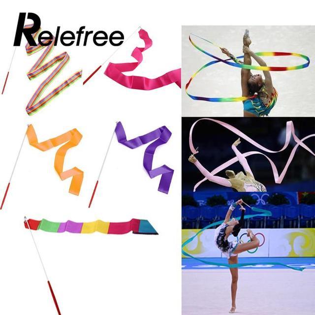 b8a6eaf2f 4 m Ginásio Dança Fita Arte Da Dança de Treinamento Esportivo Fita Colorida  Art Ginástico Ballet