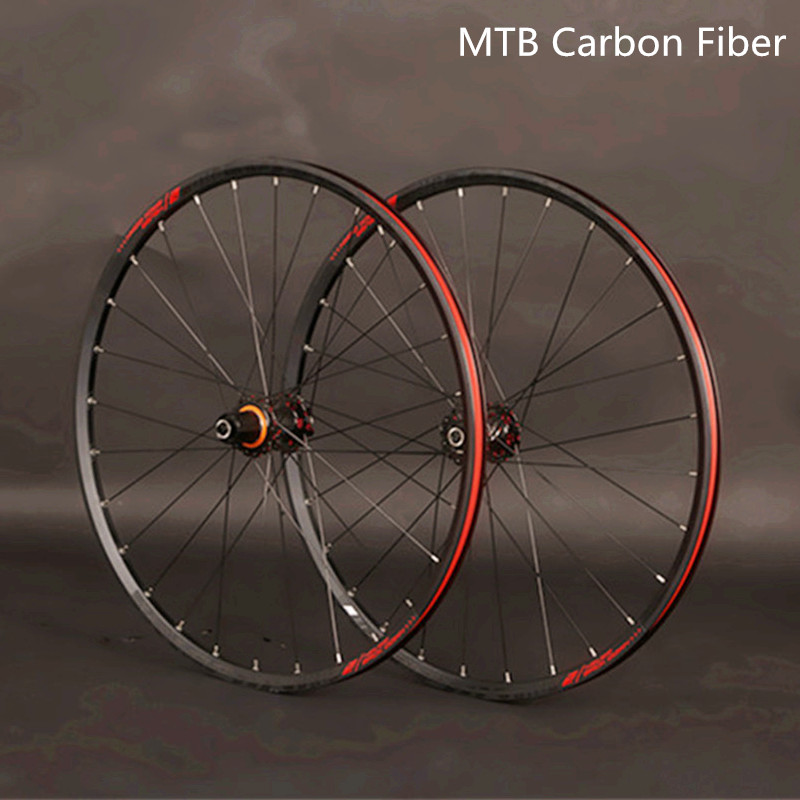 JKLapin MTB Mountain Bike 26inch 27.5 29inch Carbon Fiber Wheels Sealed Bearing Wheelset  Alloy Rim