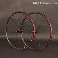 JKLapin MTB Mountain Bike 26inch 27.5 29inch Carbon Fiber Wheels Sealed Bearing Wheelset Alloy Rim