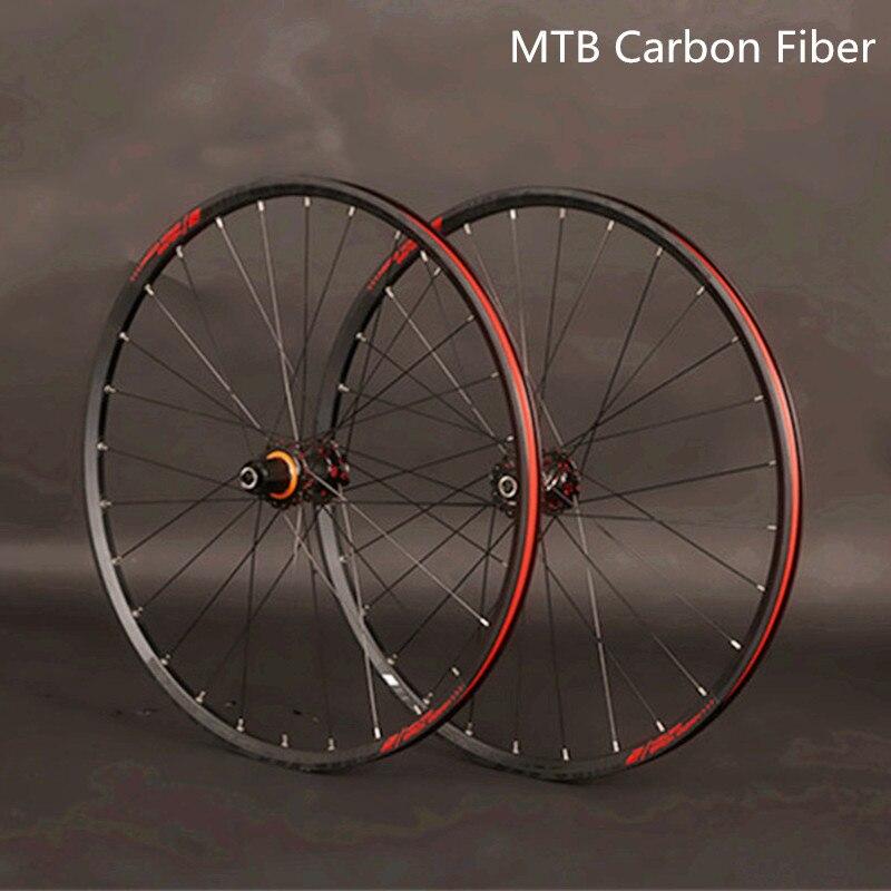JKLapin vtt VTT 26 pouces 27.5 29 pouces roues en Fiber de carbone scellé roulement jante en alliage