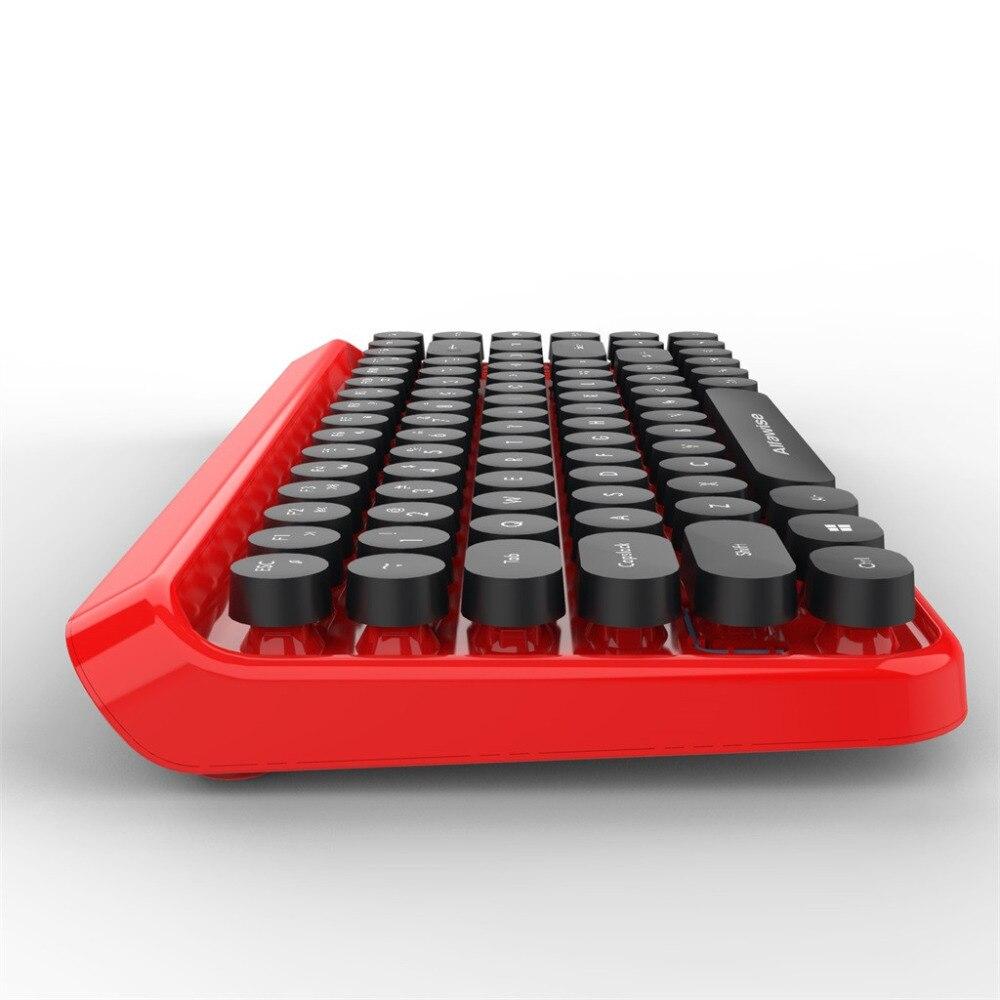 Mode chocolat keycap étanche 2 en 1 rétro Keycap Style 84 touches sans fil clavier + souris pour jeux de bureau rapidement contrôler - 2