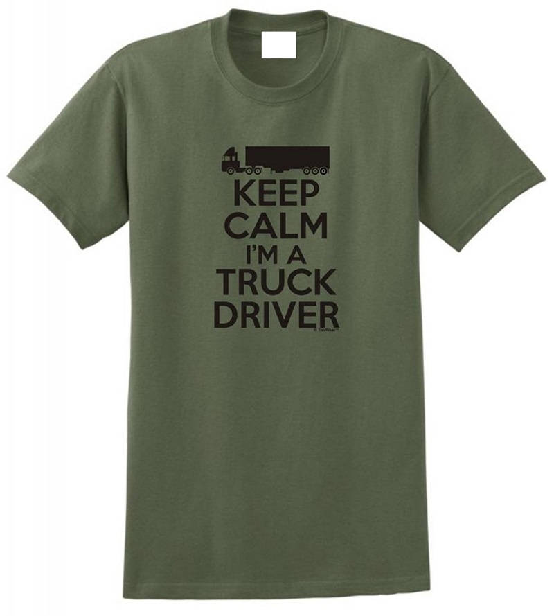On Sale New Fashion Summer Short Keep Calm IM A Truck Men Zomer O-Neck T Shirts ...