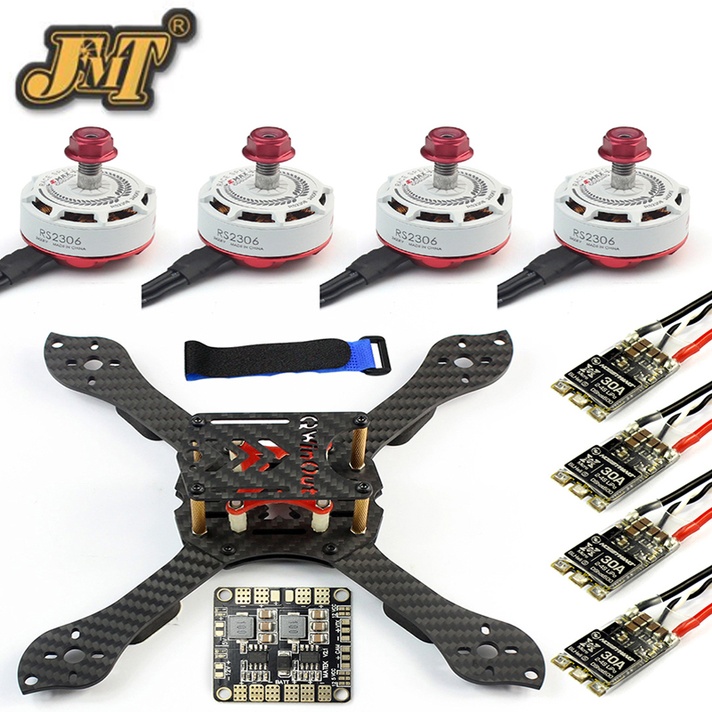 JMT DIY Kit Threel X 3K Removable Frame RS2306 2400KV Motor Brushless 30A ESC with PDB for RC FPV Racing Dshot Drone Quadcopter 4set lot universal rc quadcopter part kit 1045 propeller 1pair hp 30a brushless esc a2212 1000kv outrunner brushless motor
