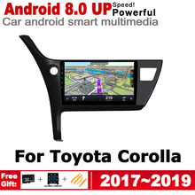 ZaiXi IPS Android 2 DIN Car DVD GPS For Toyota Corolla 2017~2019 Navigation multimedia player HD Screen Stereo radio WiFi system цена