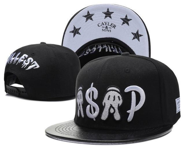 6315be1208c1 Cayler & Sons trillest ASAP snapback hats for men & women's leather brim  hip hop cap female summer style swag baseball caps bone