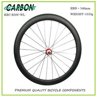 2017 New Carbon Wheel Set For Road Bike Frame Road Carbon Wheels Free Shipping 700C 50mm