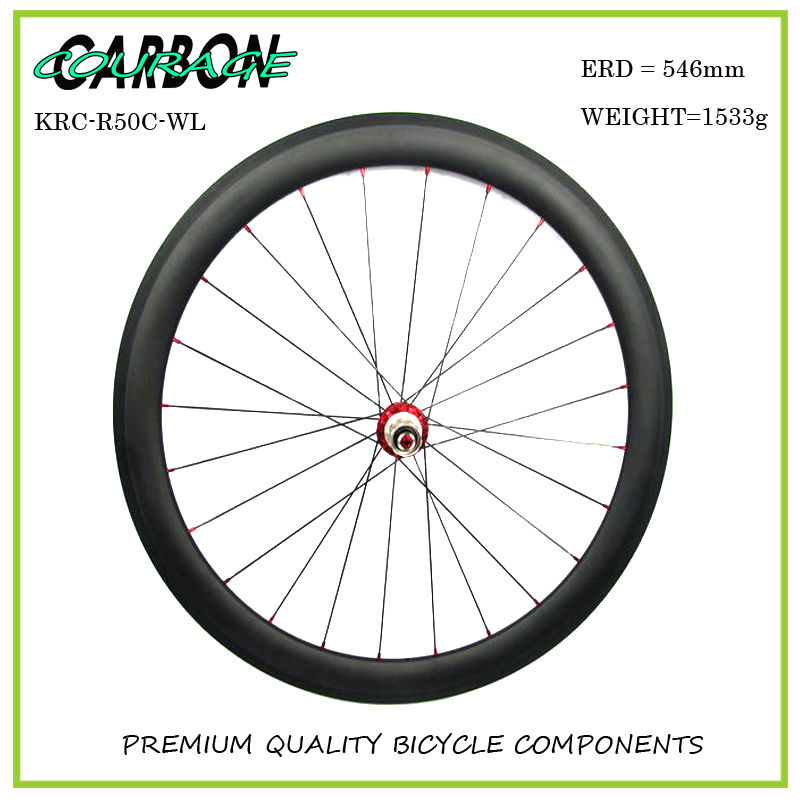 2017 new carbon wheel set for road bike frame ,road carbon wheels free shipping , 700C 50mm carbon clincher wheelset new design carbon wheel titanium material light and more safe 50mm clincher 700c