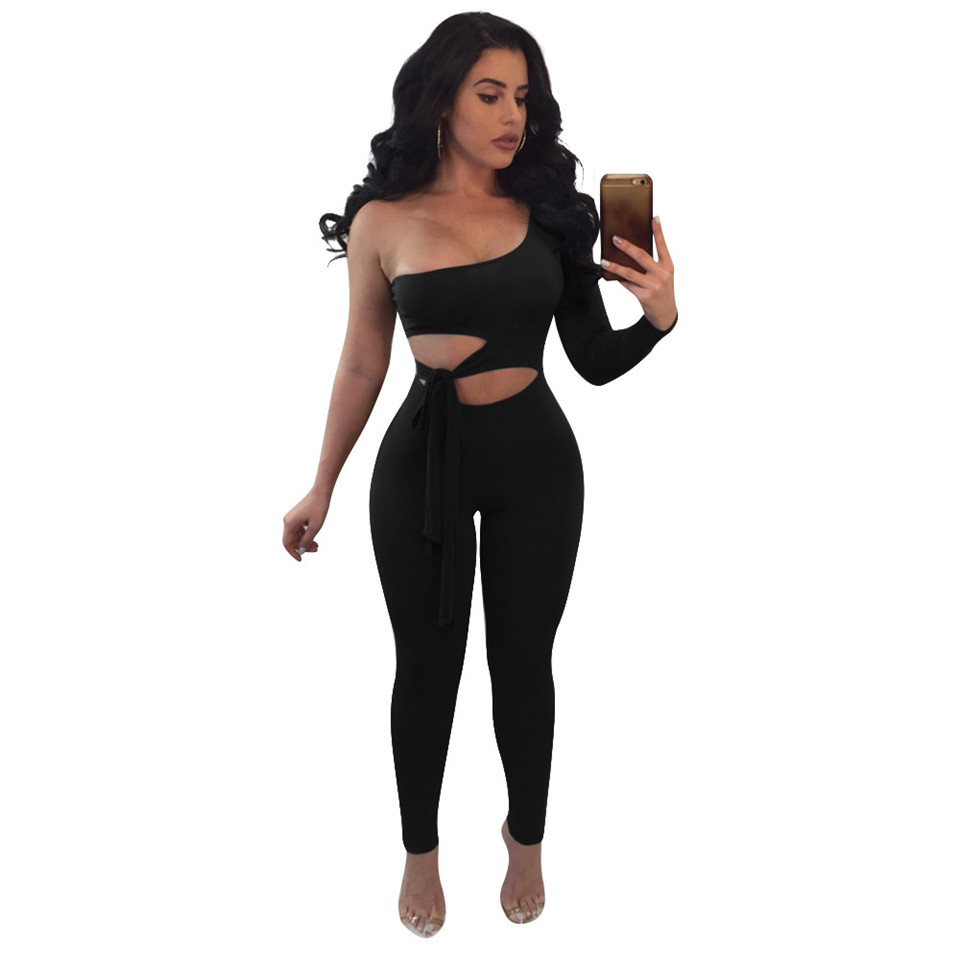 548bf77f034c Womens Jumpsuit 2016 Sexy Party Club Rompers Sexy Playsuit Hollow Out Black  Jumpsuit Long Pants Overalls For Women Bodysuit Womens Jumpsuit 2016 Sexy  Party ...