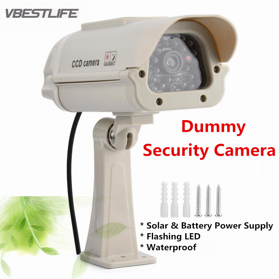 Dummy Dome Surveillance Solar Security Camera Flashing LED Realistic Camera Fake Camera Waterproof Indoor Outdoor waterproof dummy cctv camera with flashing led for outdoor or indoor realistic looking fake camera for security
