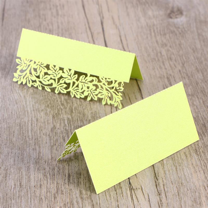 Hollow Out Wedding Party Table Wine Food Guest Name Place Cards Favor For Event Party Wedding Restaurant Home Supplies