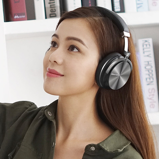 Original Bluedio T4S bluetooth headphones with microphone ANC active noise cancelling wireless headset  3