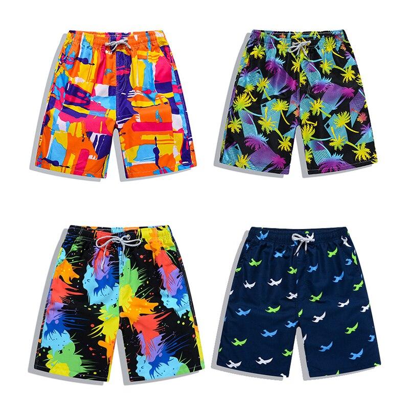 New Beach Shorts Men Women Printed Couple Swimwear Quick Dry Elastic Swim Trunks Surf Summer Swimming Briefs Men Casual Shorts 2