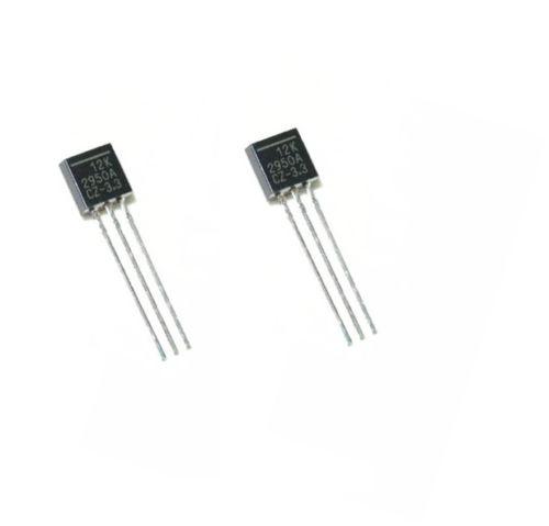 10PCS LP2950-3.3 IC REG LDO 3.3V 0.1A TO92 NEW
