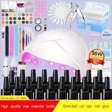 Набор для нейл-арта, УФ светодиодный гель-лампа для маникюра, набор для маникюра, несколько цветов на выбор, Гель-лак для ногтей, лак для наращивания, кисти, инструмент