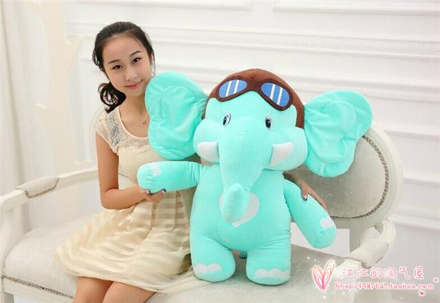 Flight Pilot elephant cartoon large 75cm light green elephant plush toy soft hugging pillow, Christmas gift h835 one green elephant футболка