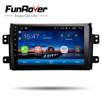 Funrover 9 Android 8.0 Car DVD GPS Multimedia player for SUZUKI SX4 SX 4 2006 2013 Navigation Stereo Radio tape wifi usb video