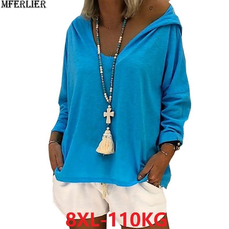 Autumn Women Print Skull Sweatshirt Hooded High Street Hoodies Plus Size Big 6XL 5XL 7XL 8XL Casual Womens Sweatshirts Loose 52