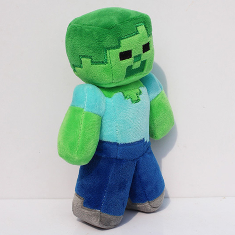 2016 Luxury Minecraft Plush Toys 18CM 23cm Green Zombie Soft Plush Stuffed Toys Brand Plush Dolls Kids Favor Gift For Boys Child