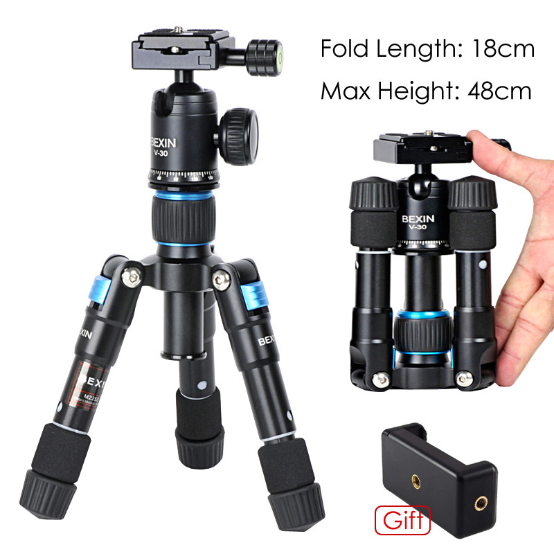Photo M225S Ultra Compact Desktop Fexible Macro Mini Portable Lightweight Tripod Monopod Kit with V 30