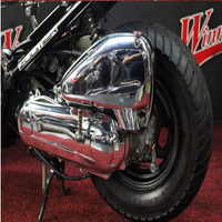 For HONDA ZOOMER AF58 Motorcycle Accessories Chrome Plating Airfilter cover Engine cover kits