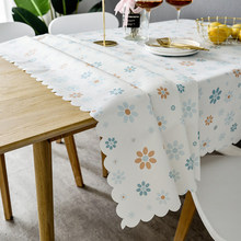 Table cloth waterproof and oil-proof disposable pvc table mat, rectangular plastic Nordic tablecloth coffee table tablecloth europe luxury party tablecloth non slip waterproof table cloth oil proof pvc soft glass plastic table cover coffee table mat