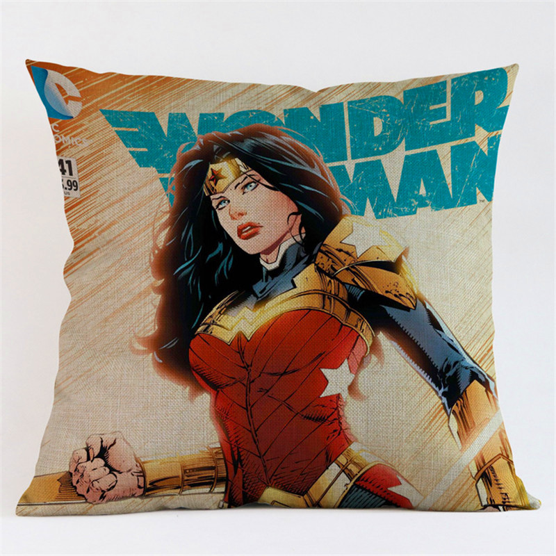super heros Home Decorative Cotton Linen Throw Pillow Case Covers Office sofa chair car Wedding decoration Party Gifts