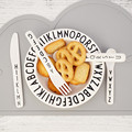 Dropship Carta Garoto Jantar Talheres Prato Lanche de Frutas Alfabeto Criança da Segurança Do Bebê de Alimentação