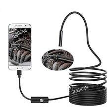 Borescopes PC USB-эндоскоп для смартфона Android камера 5,5 мм/7 мм объектив Змея мягкий кабель светодио дный водостойкий светодиодный свет эндоскопа мини камера