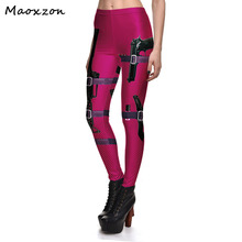 Maoxzon Womens Gun Print Sexy Slim Athleisure Fitness Leggings For Woman Plus Size Fashion Beauty Workout Active Skinny Pants XL