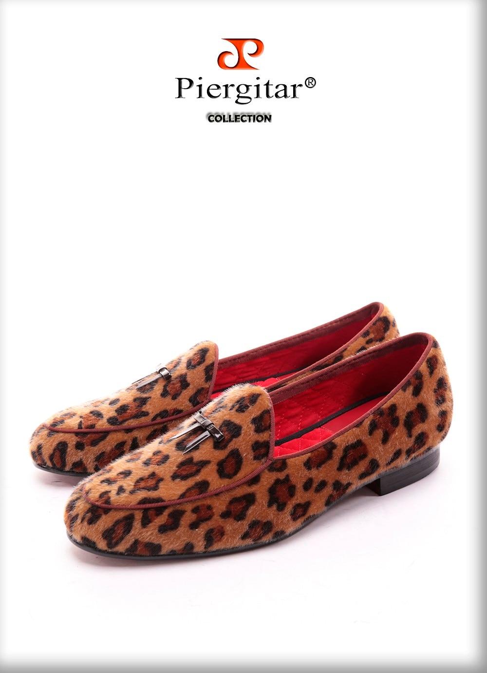 Marque New Arrival main Hommes Leopard Chaussures de velours avec petite cravate et Tongue ronde Mode bal banquet Mocassins 0W2ixoV