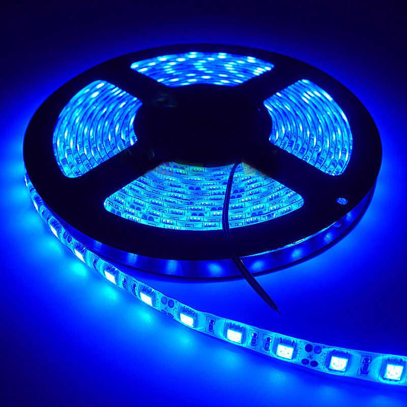 5 м/Катушка 12 5A 300 светодиодный s водонепроницаемый IP65 5050 Синий Гибкий Светодиодные ленты света для украшения дома