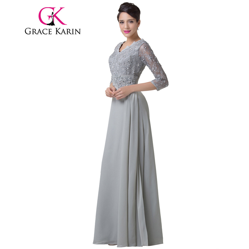 Mother of the Bride Dresses Gray