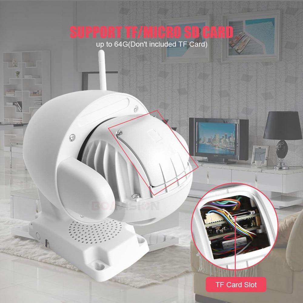 HTB1EgTLadjvK1RjSspiq6AEqXXah Super Mini 2.5 Inch PTZ Speed Dome WIFI IP Camera 1080P Outdoor 5X Zoom / 4mm Fixed Lens Wireless Camera IR 60m Two Way Audio