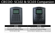 TCP/IP standalone access control system RFID card door access control with free software and SDK SC103