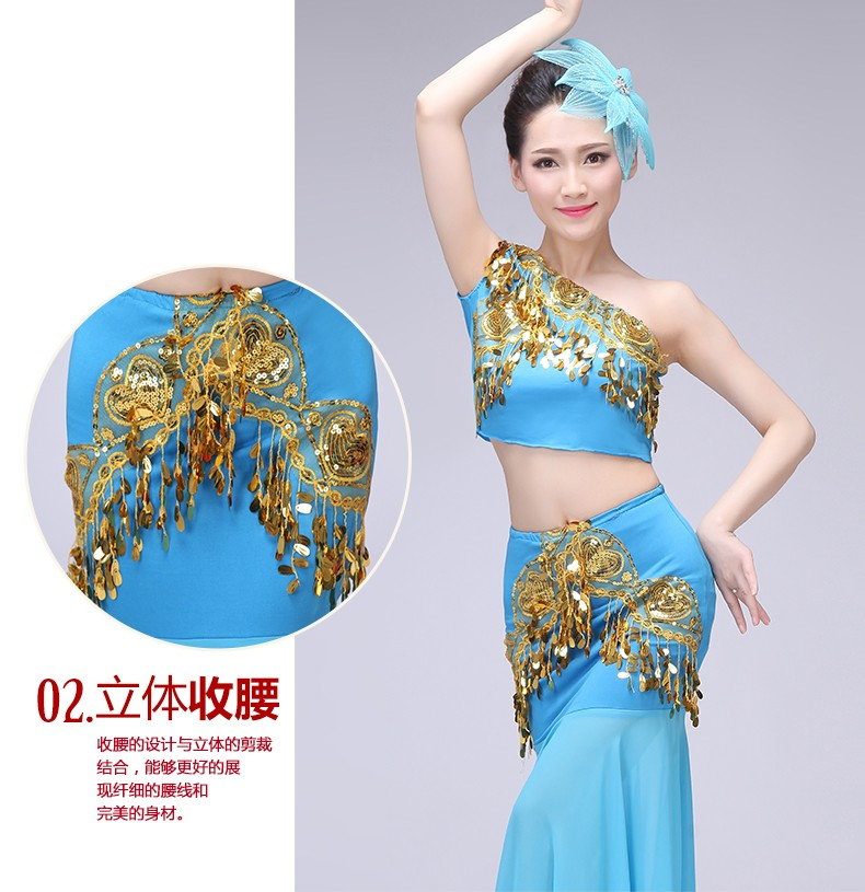 77ae6678f89a New Belly Dance Costume Indian Traditional Dress Peacock Women Adult Indian  Bollywood Dress Fish Tail Leotard Girl Dancewear-in Belly Dancing from  Novelty ...