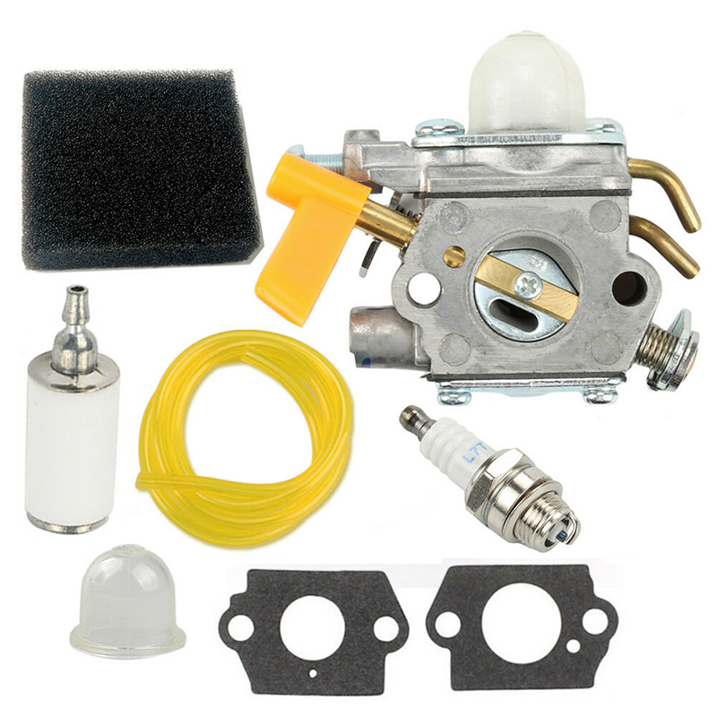 Carburetor Kit Air Filter Kit For Homelite Ryobi Poulan Trimmers Blowers 3080540 Yard, Garden & Outdoor Power Equipment Tools