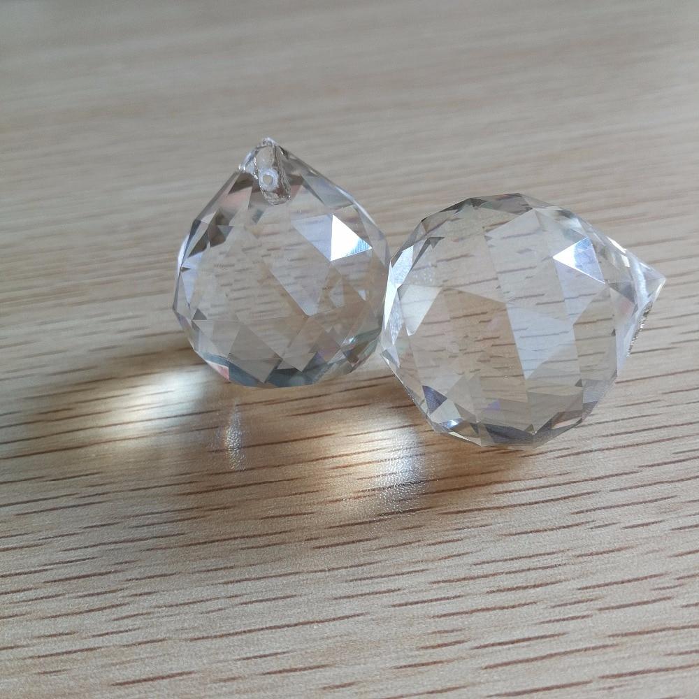 10pcs 30mm Cognac Glass prism ball Crystal lighting drop Crystal faceted prism ball shinning lighting drops