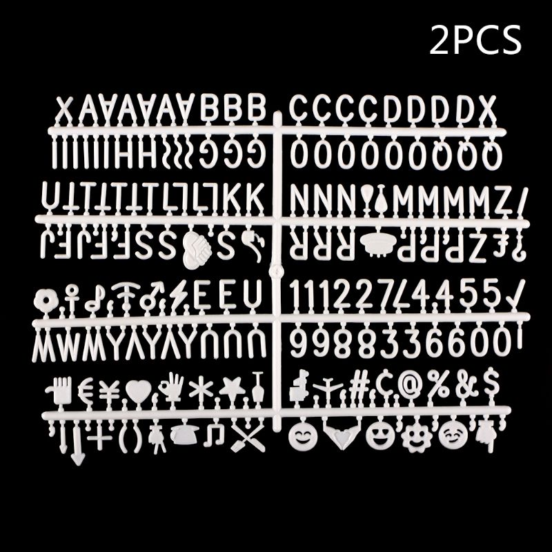 Characters For Felt Letter Board 360 Piece Numbers For Changeable Letter Board