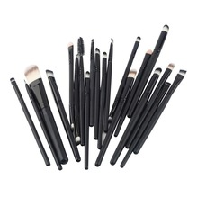 20Pcs Print Logo Makeup Brushes Set  Powder Foundation Eyeshadow Eyeliner Lip Cosmetic Brushes Make Up Brush Set Hot Selling
