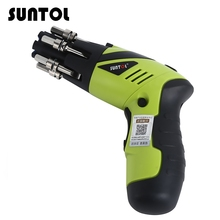 SUNTOL 3 6V Power Screwdriver Rechargeable Battery Drill Electric Screwdriver Tool EU Cordless Drill Electric Hand