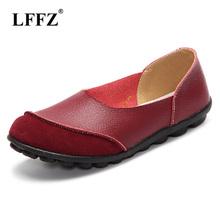 Lzzf miękkie damskie buty mieszkania mokasyny wkładane mokasyny prawdziwej skóry balet moda na co dzień panie buty kobieta obuwie duży rozmiar tanie tanio Dla dorosłych Stałe Slip-on Wiosna jesień Okrągły nosek Świńskiej Płytkie lffz WFS-1832834 RUBBER Pasuje prawda na wymiar weź swój normalny rozmiar