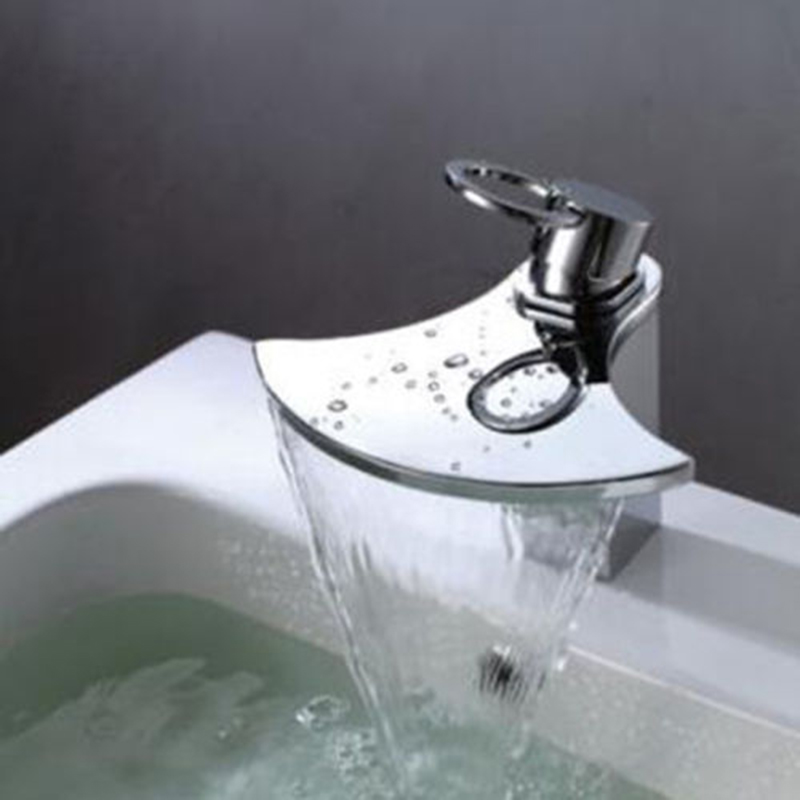 new fashion novel design ax shape basin sink faucet waterfall spout chrome bathroom faucet bath mixer - Bathroom Sinks Designer
