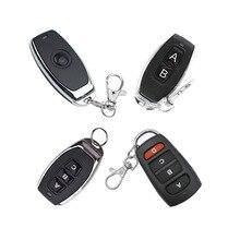 Interruptor de controle remoto sem fio, 1key 2key 3key 4key porta da garagem ev1527 código de aprendizagem universal do carro sistema 433mhz