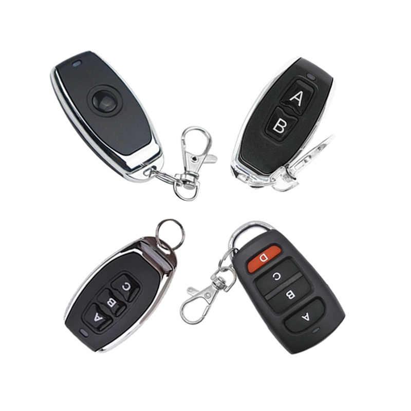 Remote Kontrol Nirkabel Switch 1Key 2Key 3Key 4Key Pintu Garasi EV1527 Kode Belajar DC 6 V Universal Auto Mobil Alarm sistem 433 M Hz