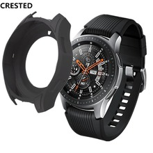 CRESTED Gear S3 Frontier Case For Samsung Galaxy Watch 46mm S 3 band Silicone Protect Cover Protective shell Watch Accessories