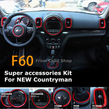 Car Accessories Suite Kit Stylish For Mini Cooper Countryman F60 2017 2018 Checkered Pink Red
