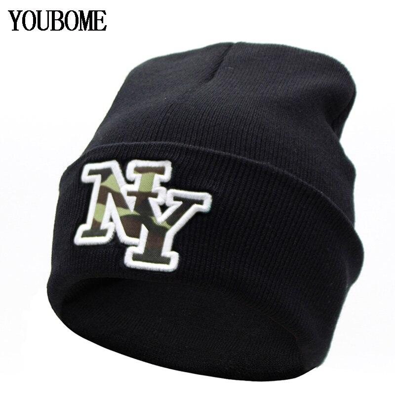 YOUBOME Fashion Brand   Skullies     Beanies   Men Knitted Hat Winter Hats For Women Men Caps Bonnet Warm Female Winter   Beanie   Hat Cap