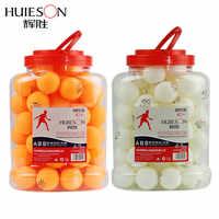 HUIESON 60 pièces/seau professionnel 3 étoiles balles de Tennis de Table D40 + mm 2.8g nouveau matériel ABS plastique Ping-Pong balle adulte formation