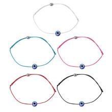 Blue Evil Eye String Kabbalah Bracelet Jewish Amulet Protection Lucky Jewelry(China)